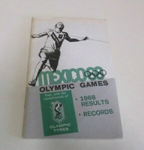 Mexico Olympic Games - Records and Results Booklet - Olympic Tyres - 36 pp, 1968