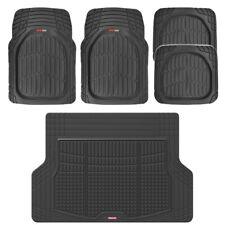 5 PC Car Floor Mats Deep Dish Heavy Duty Rubber Front Rear & Cargo Liner Auto