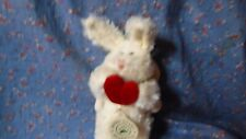 Nwt Boyds Ornament Angel Bunnny Rabbit Holding Heart 7 Inch High
