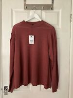 Brand New Next Women's Maroon High Neck Long Sleeve Top Size 20