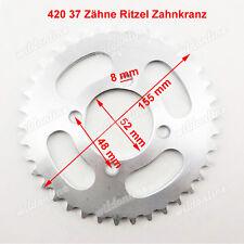 420 37T 37 Zähne Ritzel Zahnkranz für Chinese Pit Dirt Bike ATV Quad ID 52mm