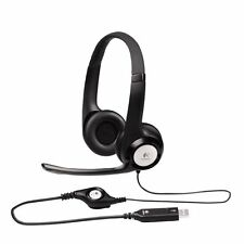 New Logitech H390 ClearChat USB Computer Headset with In-Line Mic 981-00001