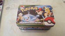 pokemon metal tags tin box