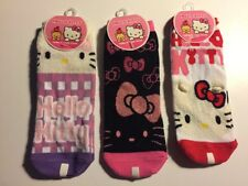 3x Sanrio original classic Hello Kitty Socks Womens 9 - 11 Low Cut No Show
