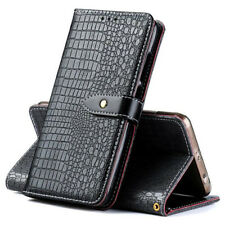 Retro Crocodile Flip PU Leather Wallet Case Cover Card Slot For Micromax Phones