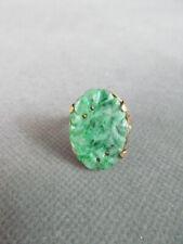 Antique Carved JADE Jadeite RING 14k Gold Setting