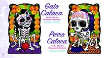 NEW ITEMS! DOG AND CAT 2- POSTERS- DAY OF THE DEAD, DIA DE MUERTOS  AWESOME!