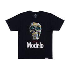 "Diamond x Modelo Especial ""Calavera"" Short Sleeve Tee (Black) Men's T-Shirt"