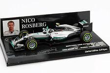 Nico Rosberg Mercedes F1 W07 HYBRIDE #6 CHAMPION DU MONDE ABU DHABI GP F1