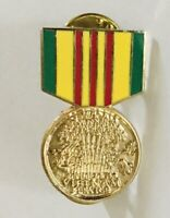 US Army Vietnam Service Medal Award Ribbon Military Pin Badge Rare Vintage (L42)