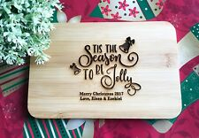 Christmas Gifts - Personalized Engraved Mini Bamboo Serving or Chopping Board