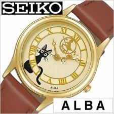 ALBA Kiki's Delivery Service Analog Watch Jiji ACCK411 Brown Band Studio Ghibli