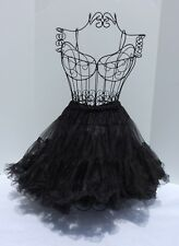 Pettiskirt Tutu Dance Pageant Costume One Size Black Skirt