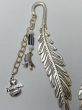 Aussie Rules football Collingwood footie fan, bird + black white beaded bookmark
