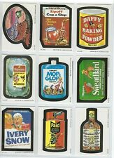 1989 O-PEE-CHEE Wacky Packages 62 Sticker set and 1 empty wax wrapper.