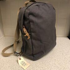 JOSHU + VELA Gray Natural Thick Canvas Zip Backpack Laptop Bag Casper NWT New