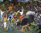 Print - Crossing the Barranca, 1930 by Diego Rivera