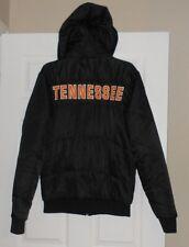 Stadium Athletics Black Tennessee Volunteers Quilted Jacket w/ hood Large NWOT