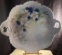 "Vintage Handpainted Ceramic Platter / Plate ~ 12"" x 11"" ~  Signed Peggy Spears"