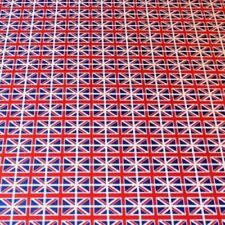 100% Cotton Poplin Union Jack Fabric UK Flag Bunting Craft Dress Material 112cm