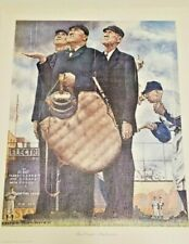 "Three Umpires : Norman Rockwell Art Print On Canvas for Framing 13x16"" total"