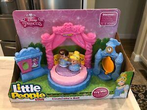 Fisher Price Little People Disney Princess Cinderella's Ball w Prince Charming