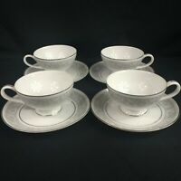 Set of 4 VTG Cups and Saucers by Imperial China W Dalton Whitney #5671 Japan