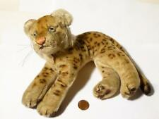 Antique Authentic Steiff Leopard with Original Paper Tag Label on Neck