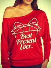 BEST PRESENT EVER LADIES LONG SLEEVE  SHIRT GREAT GIFTS #CHRISTMAS #GIFTS CUTE