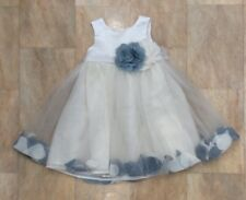 Girls Bhs Wedding Collection Bridesmaid Flower Girl Dress Blue White Age 2 Years