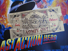 The Last Action Hero  - Reproduction Magical Ticket  - Prop