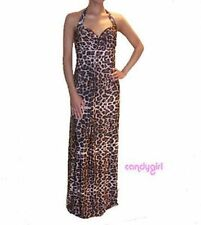 Unbranded Animal Print Maxi Halter Neck Dresses for Women