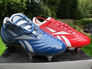 REEBOK Sprintfit RS JNR  RED  BLUE Football Boots Studs SG Soccer Park  1 - 6