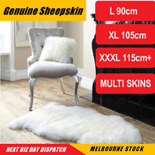 Australian Sheepskin Lambskin Rug Long Wool Fluffy Genuine Skin Rug