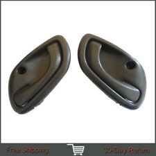 Fit 99-04 Chevy Chevrolet Tracker Inside Front Left Right Gray Door Handle 2Pcs