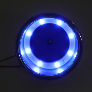 8 LED Blue Stainless Steel Cup Drink Holder 12V Marine Boat Car Truck RV New