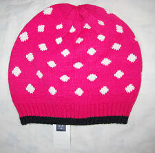 GAP Girls Pink & White Knitted Hat Size S-M NWT