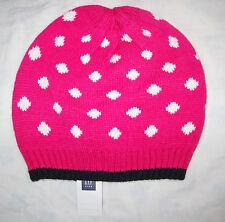 Gap Niñas Rosa & Blanco Knitted Hat Talle S-m Nuevo Con Etiquetas