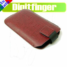 SAMSUNG S3650 CORBY CUSTODIA IN ECO PELLE ROSSA SLIM UP