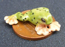 1:12 Scale Green Ceramic Frog Tumdee Dolls House Garden Pet Ornament Accessory B