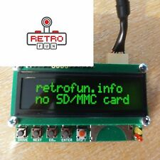 Atari Sio2sd Disk Drive Emulation With LCD Green SD Card Sio Cable / PNP