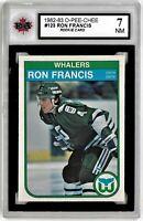 1982-83 O-Pee-Chee #123 Ron Francis RC NM Graded 7.0 (050819-27)
