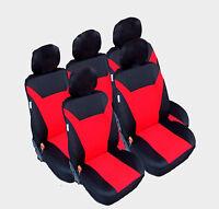 5x Sitzbezüge Schonbezüge Rot Auto Sitze für