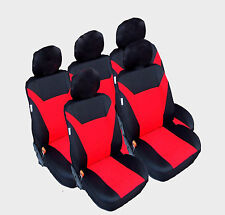5x Sitzbezüge Schonbezüge Rot Auto Sitze für VW Sharan Touran Ford C-Max B-Max