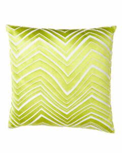 "Trina Turk Chevron Square Embroidered Decorative Toss Pillow 20"" x 20"" NEW"