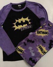 Batgirl Adult Junior Woman's Size Small Purple Fleece Pajamas Pants Set Sperhero