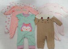 Baby Girls 3-6 Months Lot Of 6 Sleepers Cat & Jack, Carters, Max Studio
