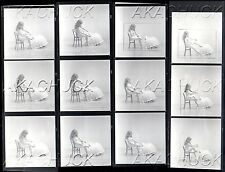 Nude Ballerina & Slippers R HENDRICKSON Negative Photograph Contact Sheet D1027