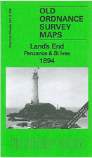 OLD ORDNANCE SURVEY MAP LANDS END PENZANCE ST IVES ST JUST HAYLE MARAZION 1894