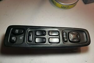 2000-2005 CADILLAC SEVILLE DRS DRIVER MASTER POWER WINDOW CONTROL 25726931-1216V